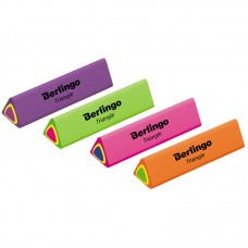 Ластик Berlingo Triangle трехсторонний BLc_00110 тройной яркий цвет 44*15*15мм термопластичная резин