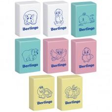 Ластик Berlingo Animals прямоугольный Blc_00150 пастельные цвета 28*18*10мм термопластичная резина