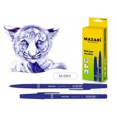Ручка шар. Mazari 5901 синяя 0,7мм масляная цветной корпус Galanta M-5901-70