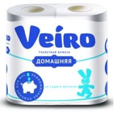 Бумага туалетная 2-хслойная (набор 4 штуки*15м) Вейро Домашняя белая 1С24 (лист 92*125мм)