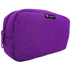 Пенал-косметичка объемная Лен, цвет фиолетовый 21*11*45мм Lamark PB0024-LVL