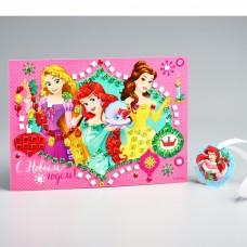 Аппликация стразами С Новым Годом! Принцессы 24,7*15,4см Disney 2098086