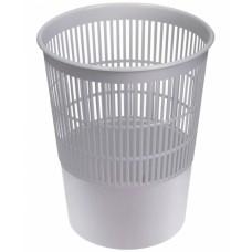 Корзина для мусора 14л круглая сетка серая Стамм КР52
