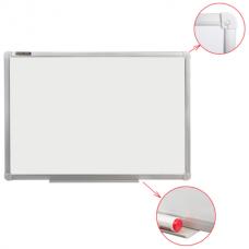 Доска магнитно-маркерная I00*150см белая настенная Brauberg 235523 алюминиевая рамка с полкой