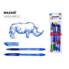 Ручка шар. Mazari 5701 синяя 0,7мм игольчатая масляная TORINO (аналог 5022) M-5701-70