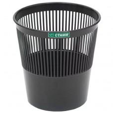 Корзина для мусора  9л круглая сетка черная КР21 Стамм