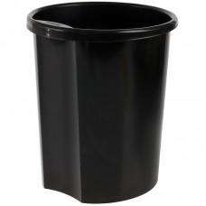 Корзина для мусора 12л круглая с держателем черная КР11 Стамм