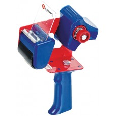 Диспенсер для скотча 50мм Lamark TD0001-BL синий